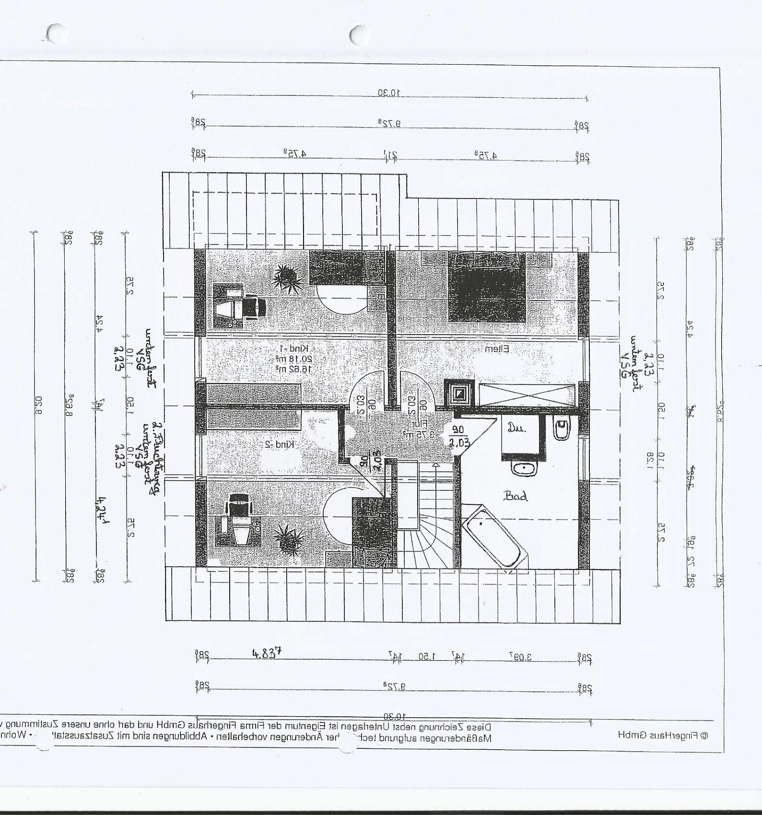 Fingerhaus neo grundriss  Unser Bautagebuch: Architektengespräch