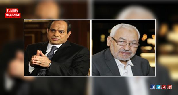 الغنوشي للسيسي : غير مرحب بك في تونس