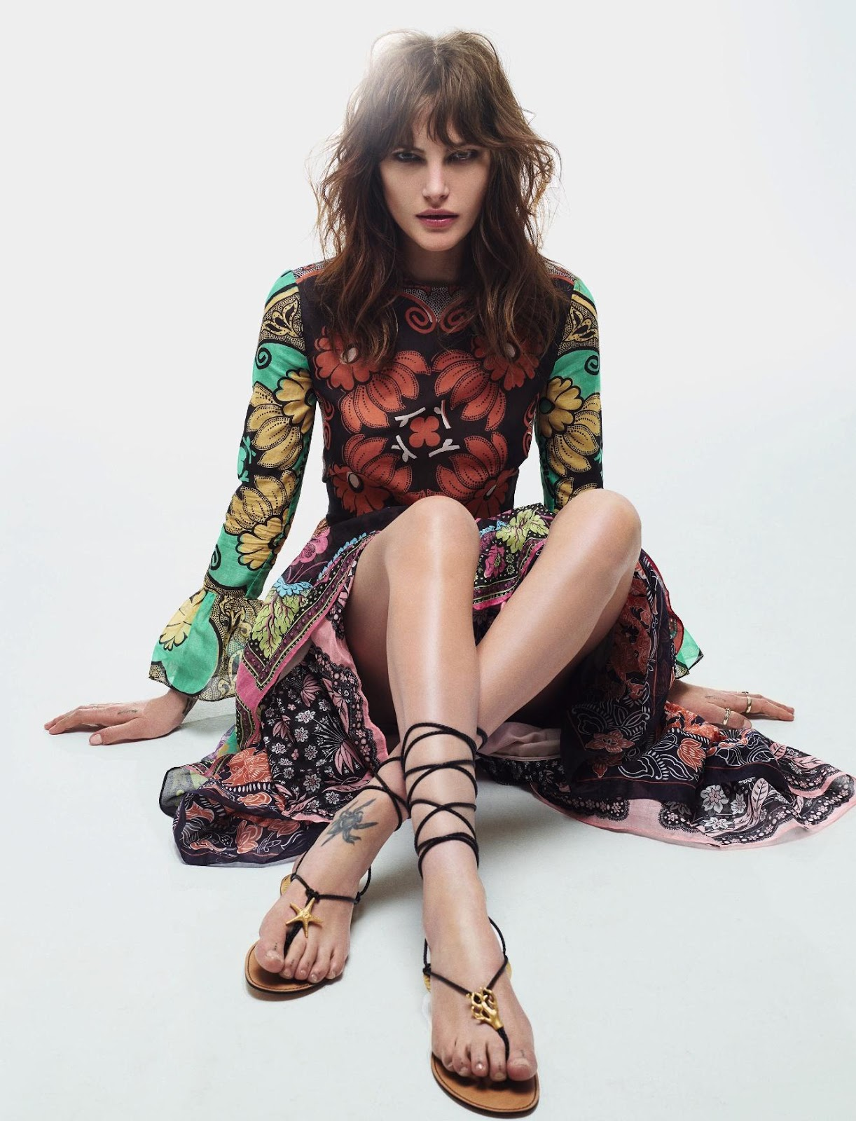 Catherine McNeil photographed by Jean-Baptise Mondino for Elle France March 2015 via fashioned by love british fashion blog