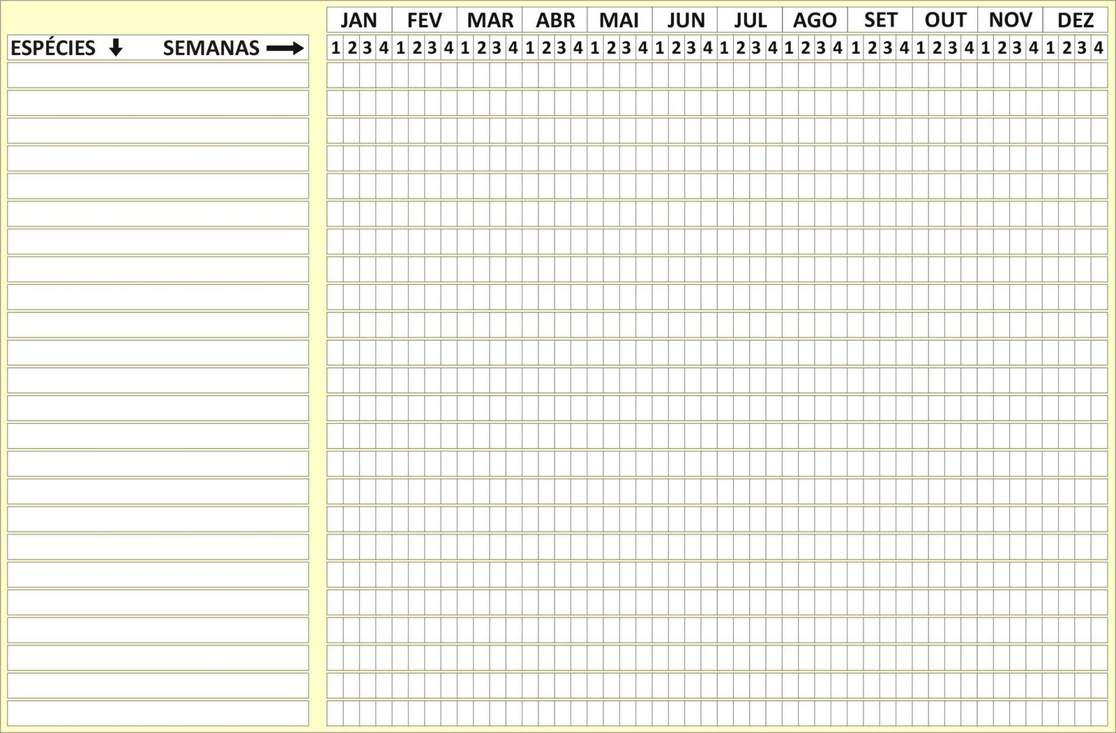 Tabela em branco, para quem a quiser preencher e enviar-me, para que ...
