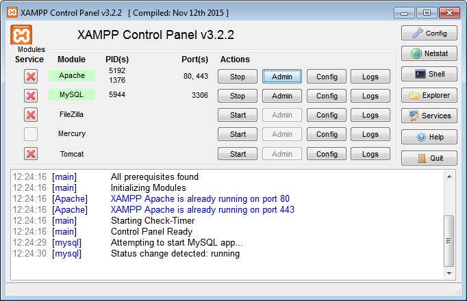 Create a test folder in htdocs xampp folder