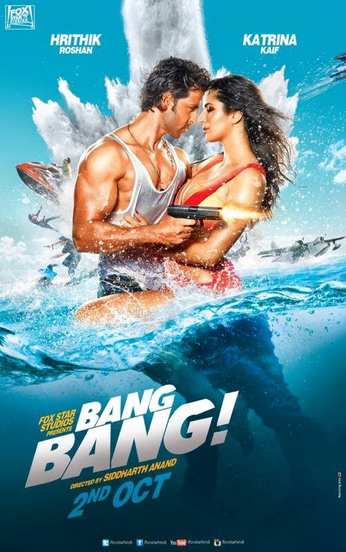 Bang Bang - First Look - Movie Poster Wallpaper - Hrithik, Katrina