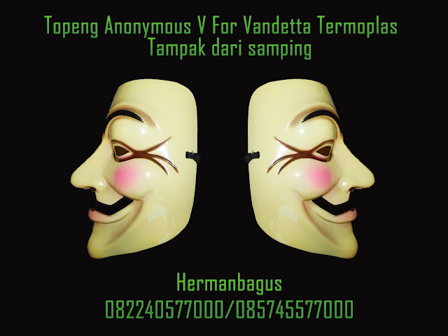 Jual Topeng Anonymous V For Vandetta Termoplas