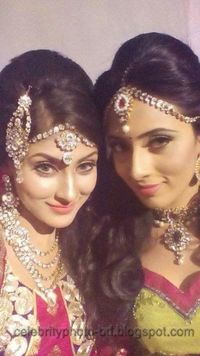 Beauty+Queen+Of+BD+Mehzabien+Chowdhury+With++Bidya+Sinha+Saha+Mim+Photos003