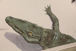 Crocodile Painting in Crocodile Cafe