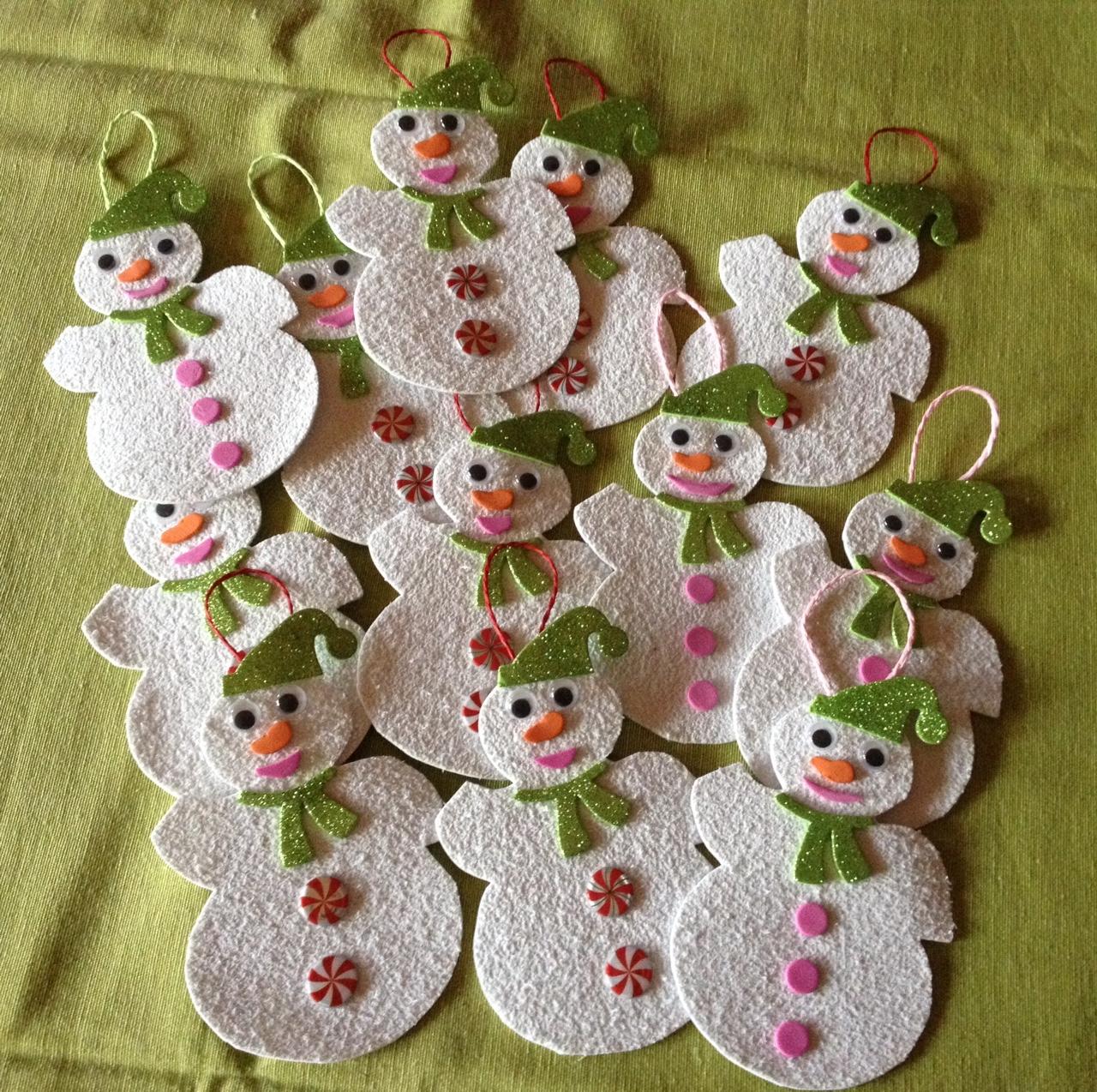 Decorazioni natalizie di gommapiuma kevitafarelamamma - Decorazioni natalizie ...