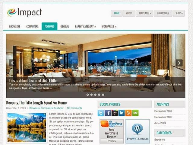 Impact - Free Wordpress Theme