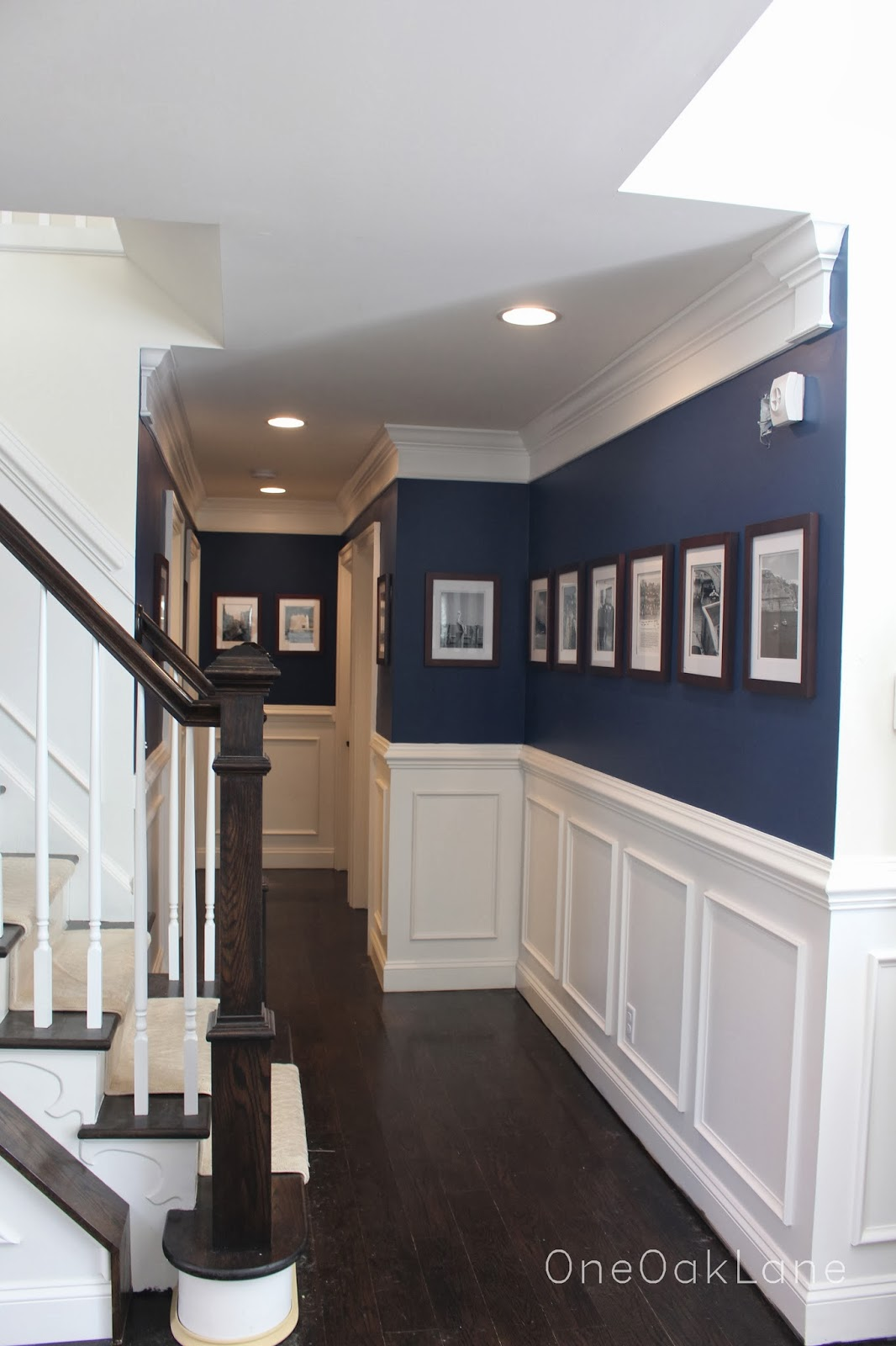 One Oak Lane Navy Picture Hallway