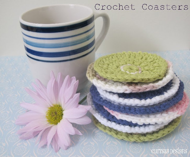 crafts tutoriral: crochet coasters, free crochet patterns