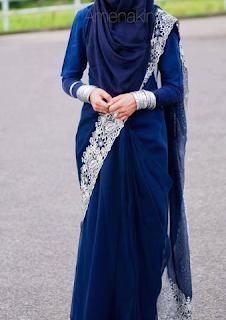 kain sari untuk wanita muslimah