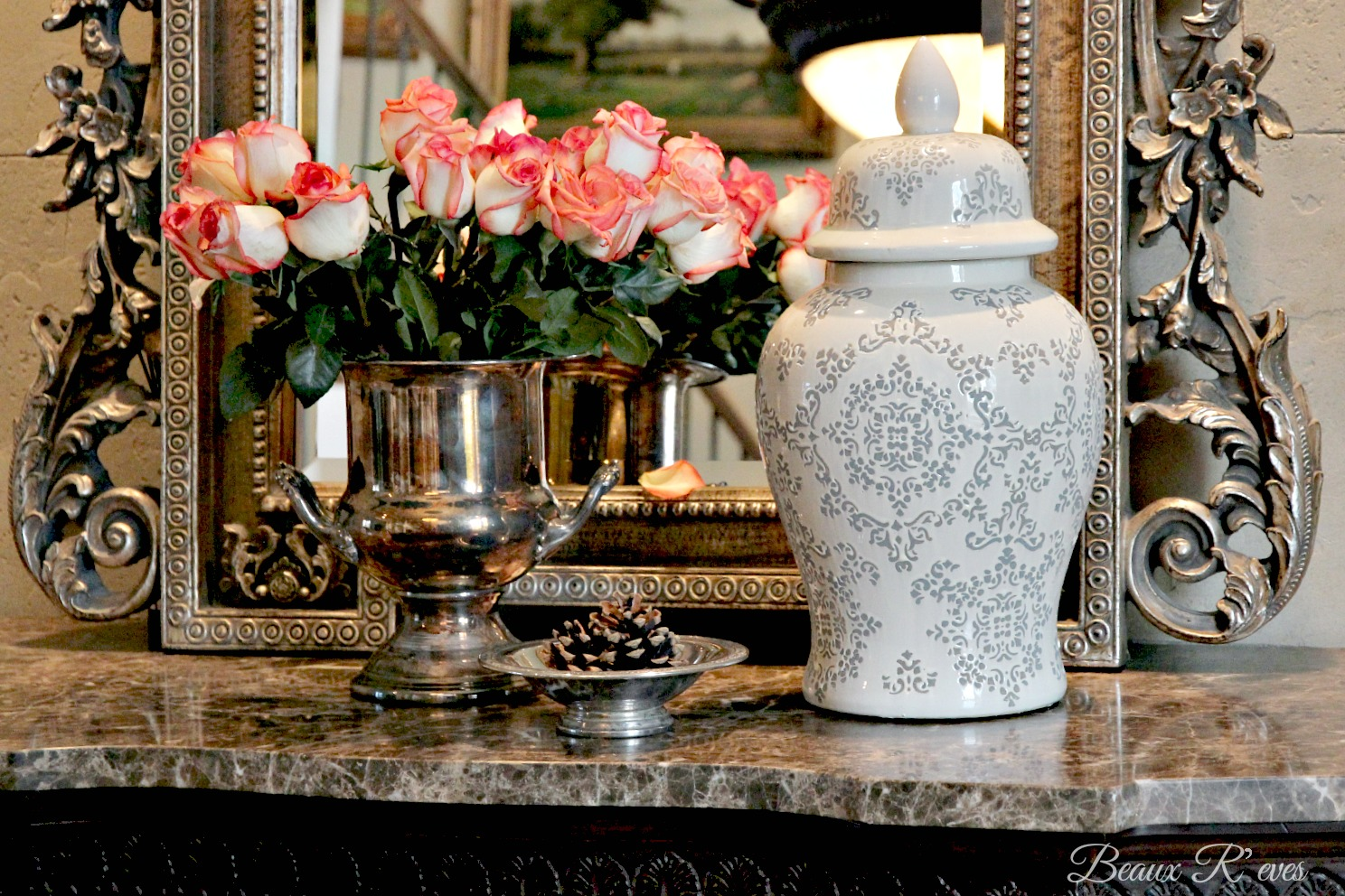 Beaux R'eves -Romantic Vignette-Treasure Hunt Thursday- From My Front Porch To Yours