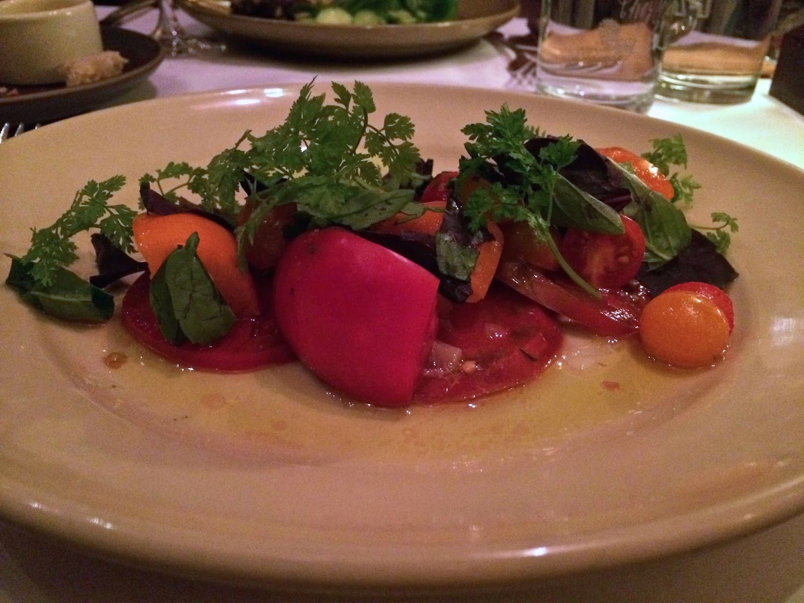 Heirloom Tomato Salad at Chez Panisse Cafe