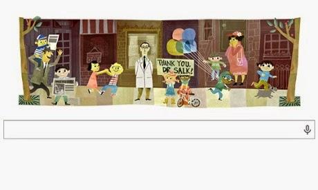 Google doodle: Jonas Salk 100th Birthday