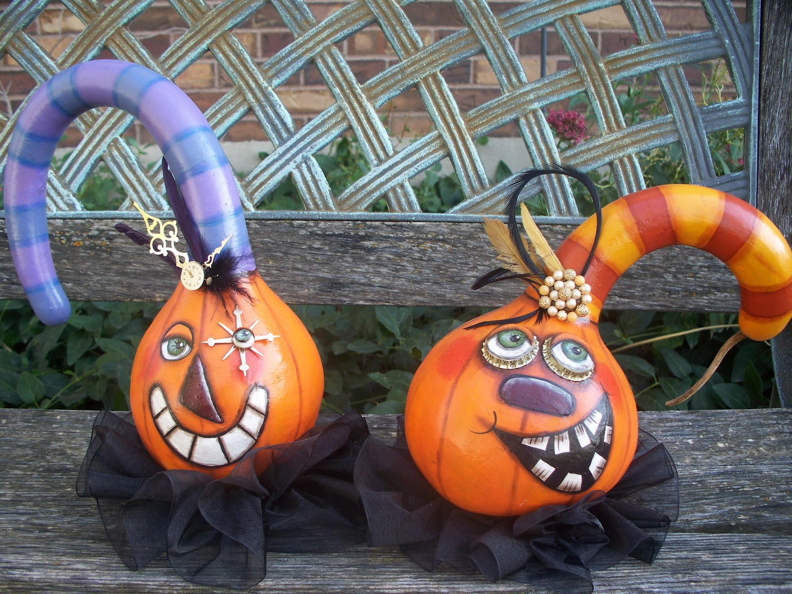 A Couple Of New Gourds For Halloween