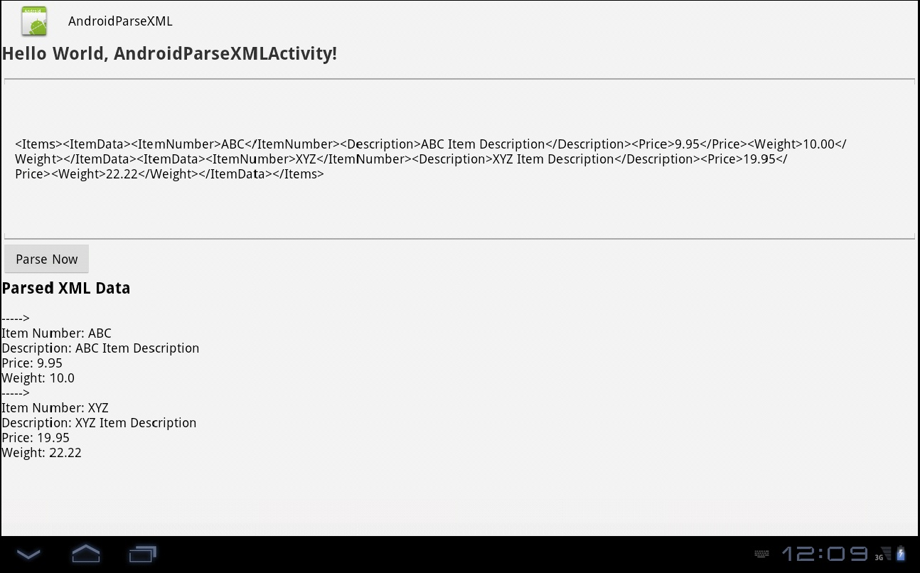 Android Parse Xml File Example Using Sax Parser