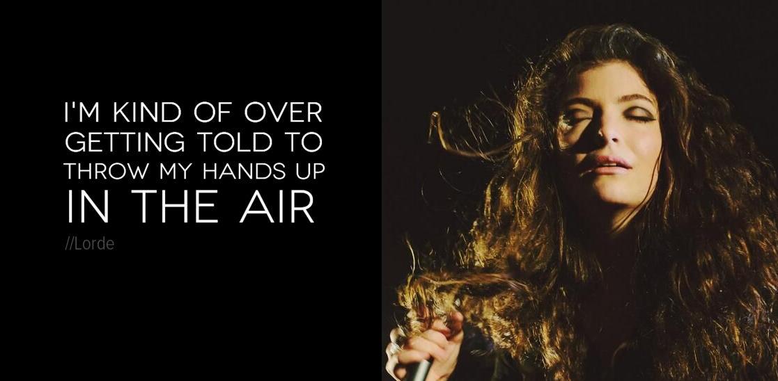 Lorde  Tennis Court Lyrics  MetroLyrics