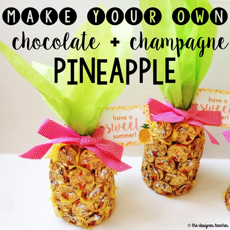 The Designer Teacher: Make Your Own Chocolate + Champagne Pineapple