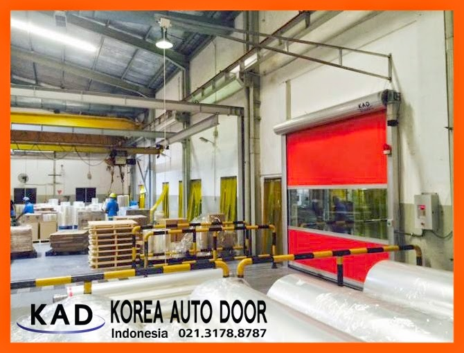 show high speed door indonesia installed in a factory for more clean environment.