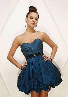 modelo de vestido balonê azul