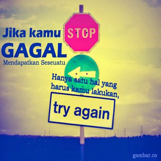 try again, jangan menyerah