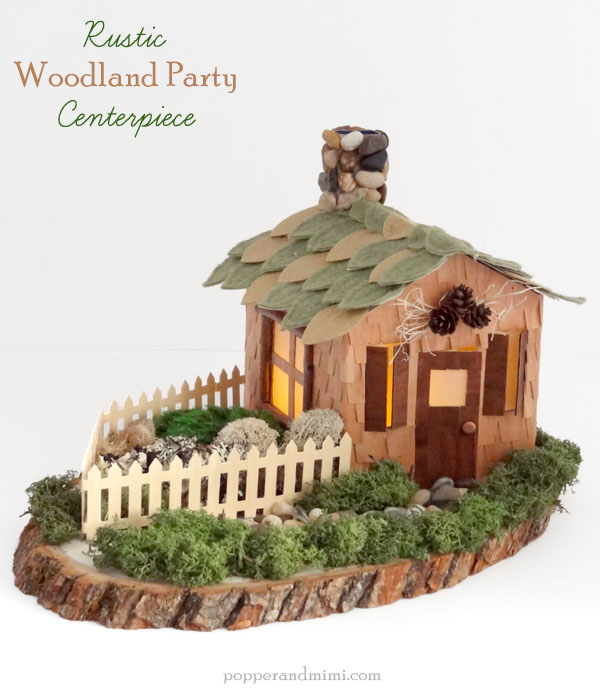 DIY Rustic Woodland Party Decor Centerpiece | popperandmimi.com