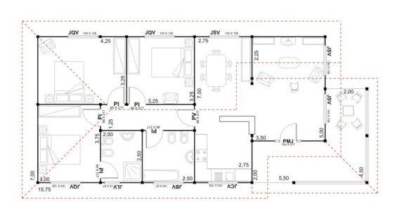 Denah Rumah Ukuran 6x12 3 Kamar Denah Rumah 3 Kamar Ukuran 6x12