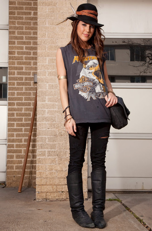 Secret Hipster Black Knee High Boots Street Style