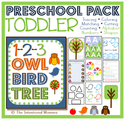homeschool trace color count alphabet write numbers shapes flashcards owl bird tree