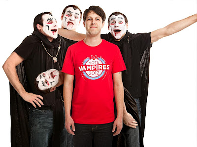"Threadless Super Tuesday Election - ""Vote Vampires 2012"" Guys T-Shirt"