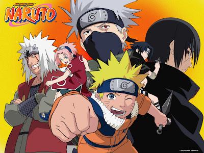 anime accion ninjas jiraija kakachi naruto sasuke