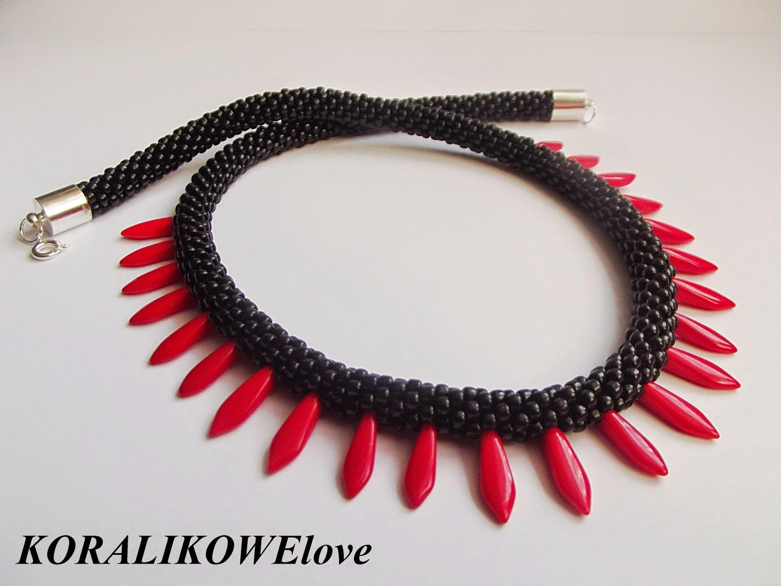 naszyjnik z koralików,koraliki,dagger beads,toho