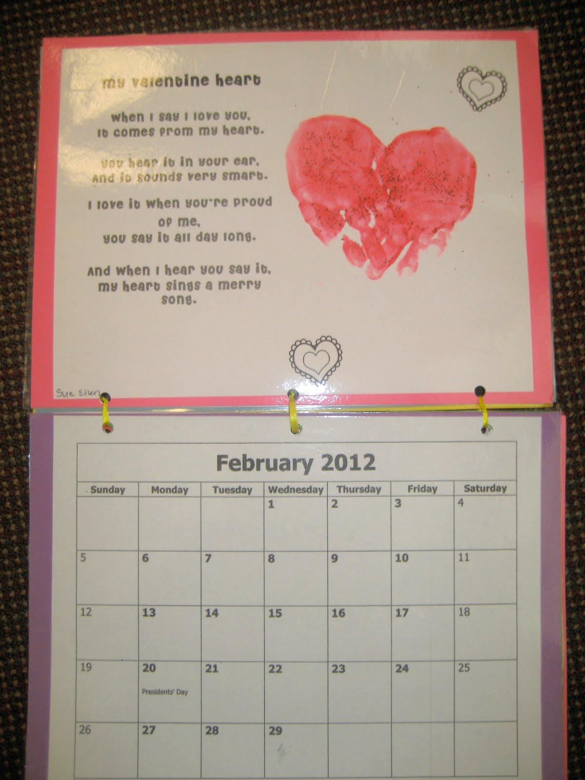 Calendar Poems For Kindergarten : Kindergarten handprint calendar search results