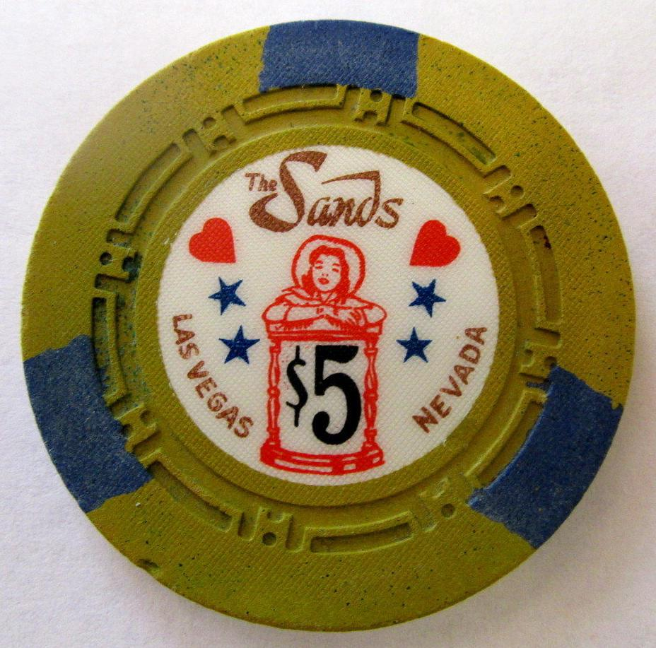 The sands casino poker chip zig zag system for slot machines