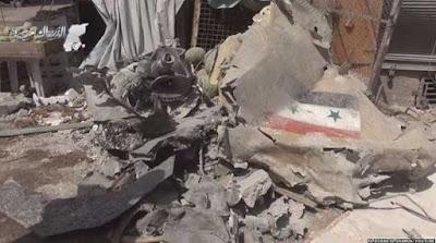 Usai Jatuhkan Bom ke Warga Sipil, Jet Tempur Rezim Bashar Al-Assad Jatuh
