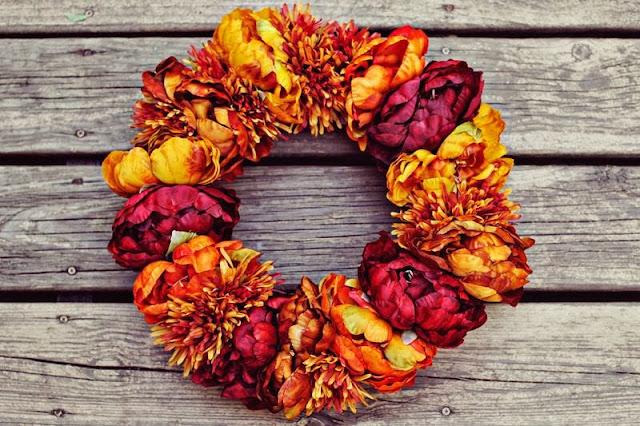 jesienny wianek DIY inspiracja DIY pomysł na jesienną dekorację