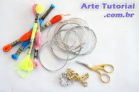 Material para decorar pulseira ou bracelete