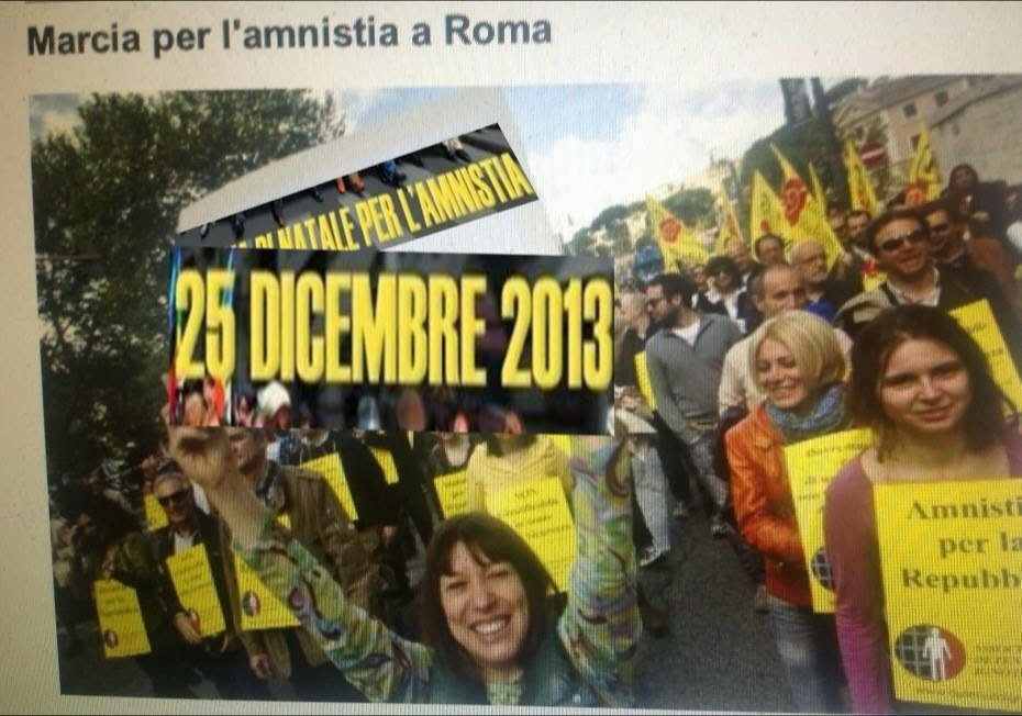 25 dicembre 2013 Marcia di Natale per l'Amnistia, la Giustizia, la Libertà