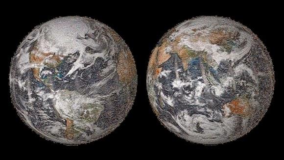 NASA Rilis Foto Global Selfie dalam Mosaik Bumi