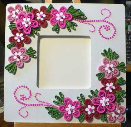 Let\'s create: Decorated Foam Board Photo Frame