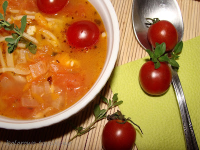 Zupa prawdziwie pomidorowa z mozzarellą