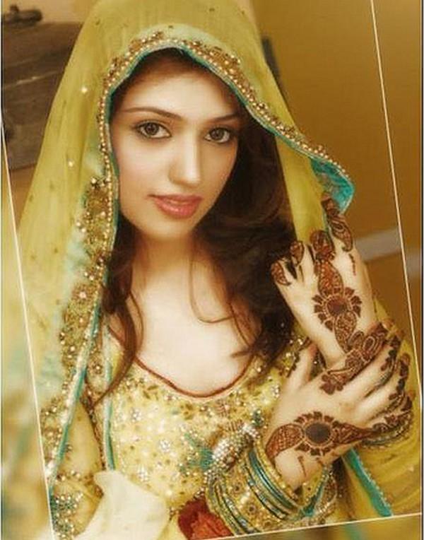 Mehndi Bride Hair : Paki fashion hair styles for mehndi bride