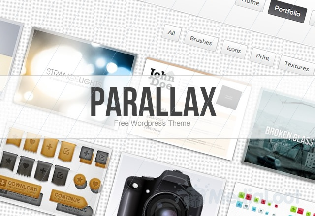 640x440 Parallax Wordpress Theme Preview11 16 Best 2012 Free WordPress Themes