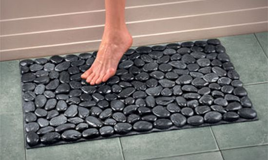 Krafty karina river rock mat for River stone bath mat