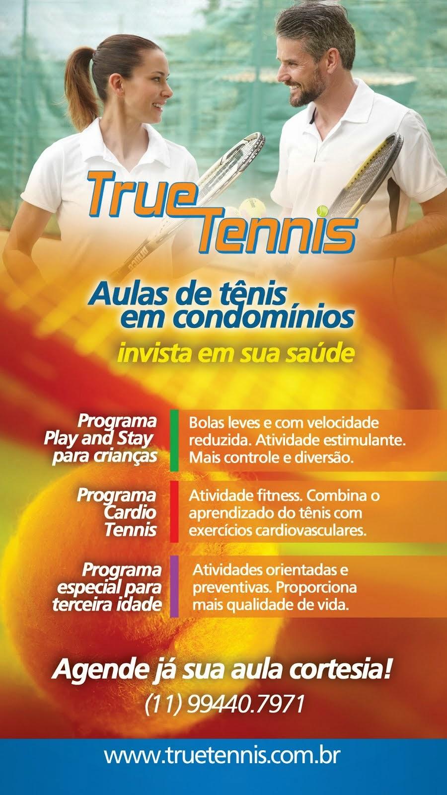 Promovendo a pratica do tênis.