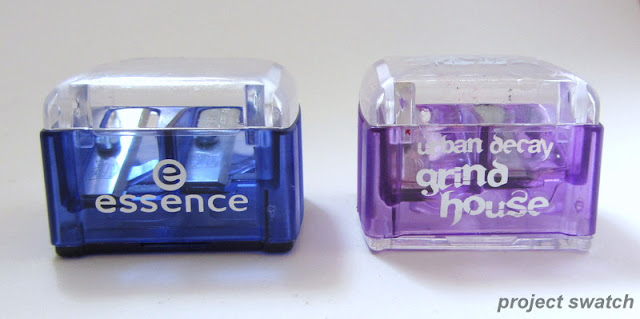 Dupes: Essence dual pencil sharpener and Urban Decay grindhouse