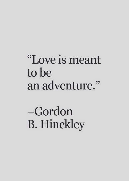 Love is meant to be an adventure image quote