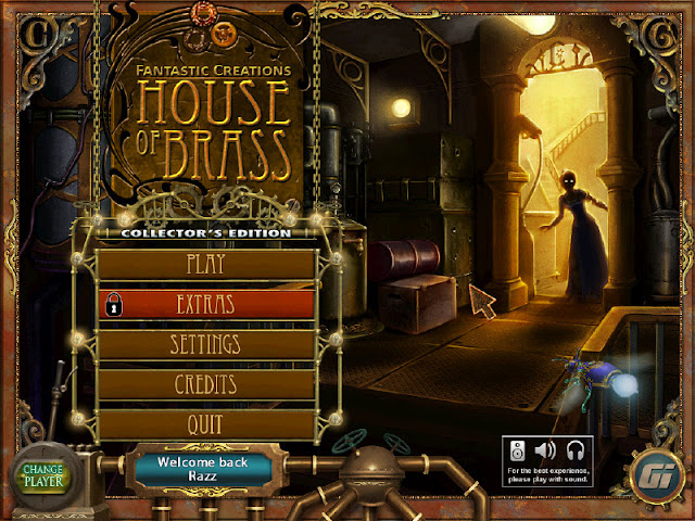 Fantastic Creations: House of Brass Main Menu