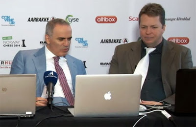 Garry Kasparov et Nigel Short aux commentaires