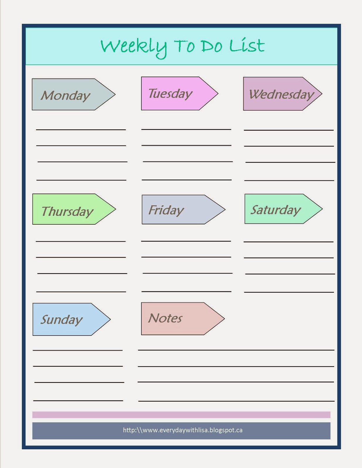 This is an image of Transformative Printable Weekly to Do List