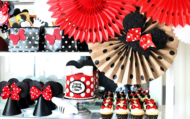 Rooms Decorated With Minnie Mouse Theme For Birthday Party